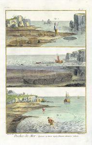 "DIDEROT/GROUSSIER & BERNARD: ""PÊCHES DE MER"" – SEA FISHING print 1771"