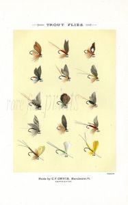 ORVIS MARBURY - TROUT FLIES - HALFORD'S FLOATING FLIES FOR DRY-FLY FISHING  print