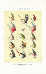 ORVIS - TROUT FLIES plate (R) fishing print