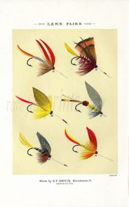 ORVIS - LAKE FLIES - plate (l) fishing print
