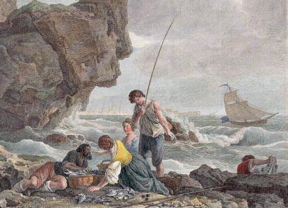 LES PECHEURS DES MONTS PYRENEES - fishing print detail 2