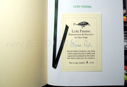 LURE FISHING BY DAVID PUGH – DELUXE QUARTER LEATHER-BOUND LTD EDITION COPY No 2