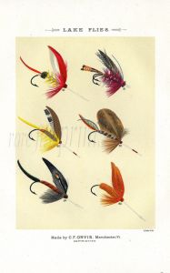 ORVIS - LAKE FLIES plate (I) fishing print