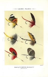 ORVIS - LAKE FLIES plate (H) fishing print