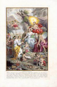 ALBERTUS SEBA Vol I. frontispiece: INDUSTRIA print 1734 - 1765