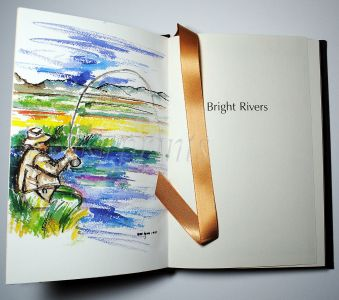 BRIGHT RIVERS - NICK LYONS - RARE SIGNED EASTON PRESS COLLECTORS EDITION
