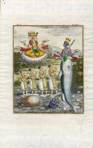 THE IDOL OF VISTNUM  - SUPERNATURAL BEINGS: GODS - A. & C. CHURCHILL 1744